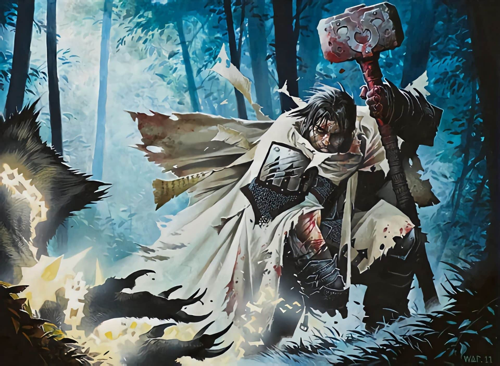 5e Cleric turning undead with holy energy
