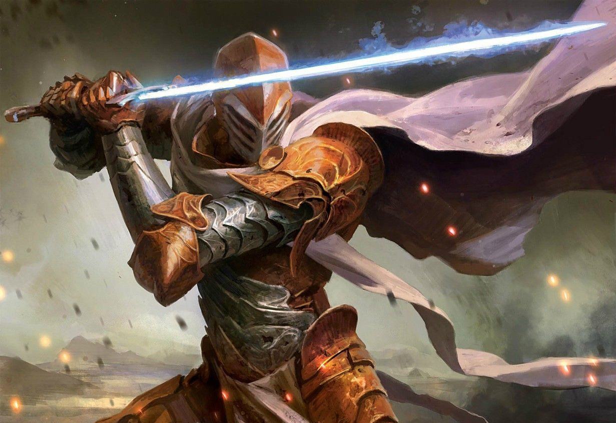 Eldritch Knight holding a magical two-handed sword